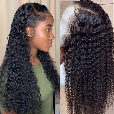 (HOT SALE🔥)CURLY HUMAN HAIR WIG 360 LACE FRONTAL WIG PRE PLUCKED WITH BABY HAIR