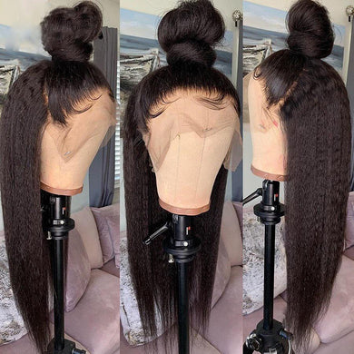 Kinky wig big sale 360 Lace Frontal Wig With Baby Hair