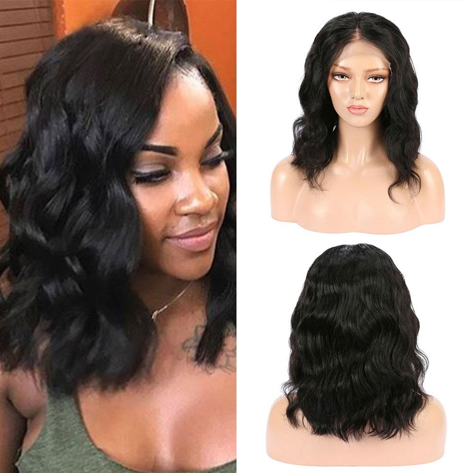 (HOT SALE🔥)HUMAN HAIR WIGS, MEDIUM BRAZILIAN REMY HAIR, PRE-PLUCKED LACE HAIR
