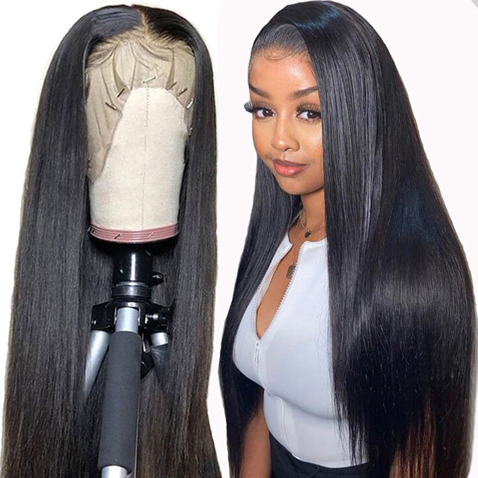 (HOT SALE🔥)STRAIGHT FRONT LACE TRIM WIG FRONT STRAIGHT GRAIN BRAZILIAN WIG