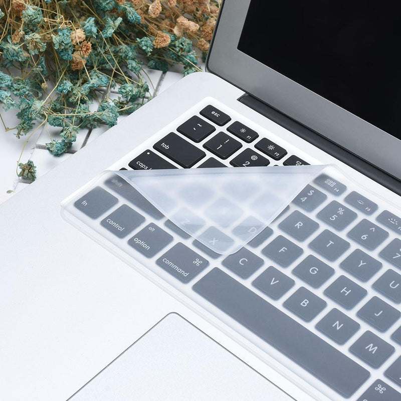 Hygienic keyboard cover protects from spills and dust and germs