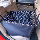 small dog carrier and car seat cover in black