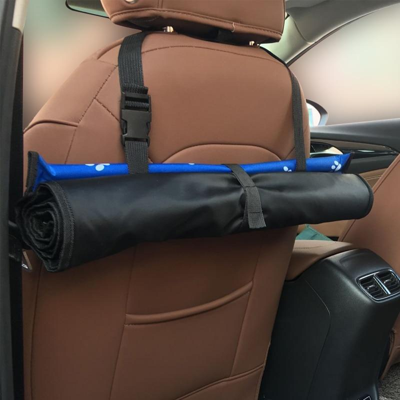 The dog carrier and car seat cover rolls up when not in use