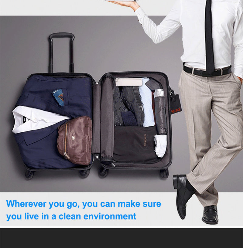 Portable UV-C light travels so that wherever you go you can make sure you are in a clean environment