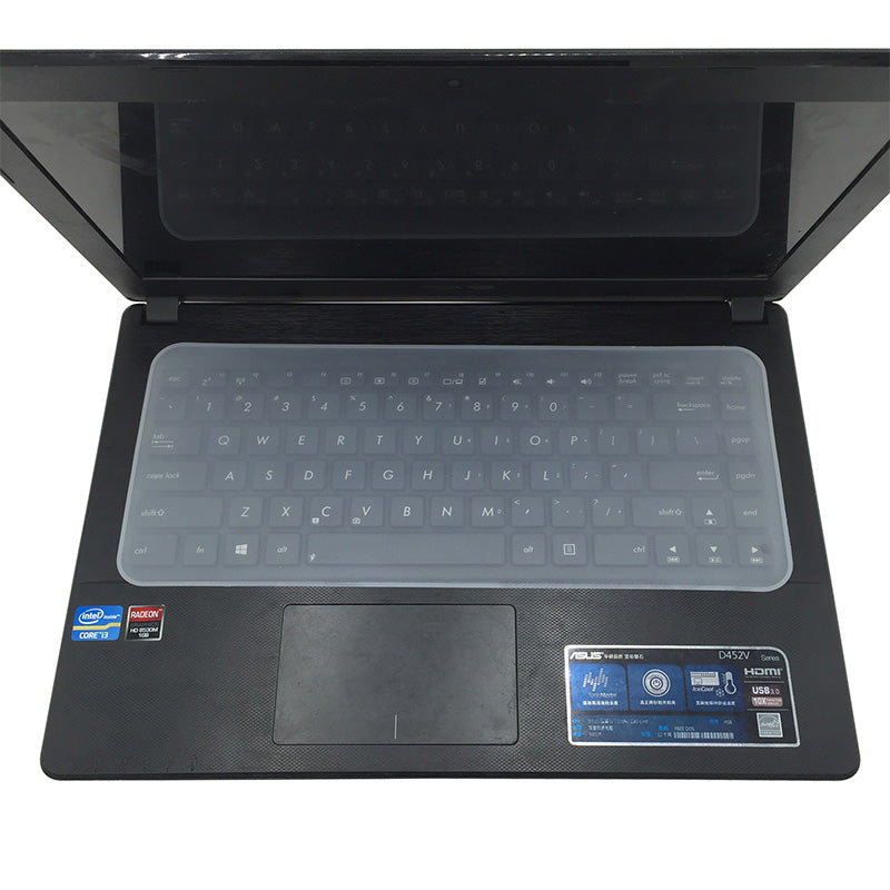Waterproof Keyboard cover is thin and transparent and doesn't interfere with typing or operation