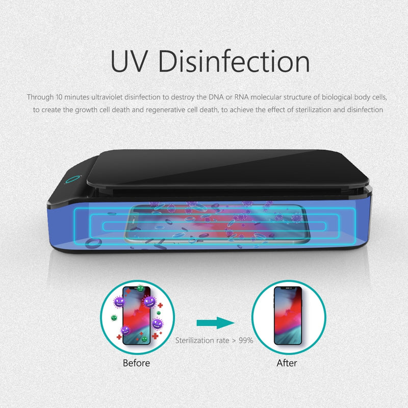 ultraviolet germicidal irradiation (UVGI) for sterilization and sanitation destroys the DNA or RNA of biological cells like viruses (coronavirus), bacteria, germs, spores and microorganisms.