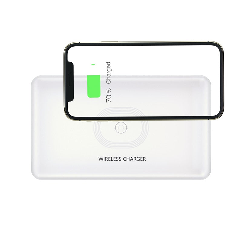 UV lightbox with wireless charger