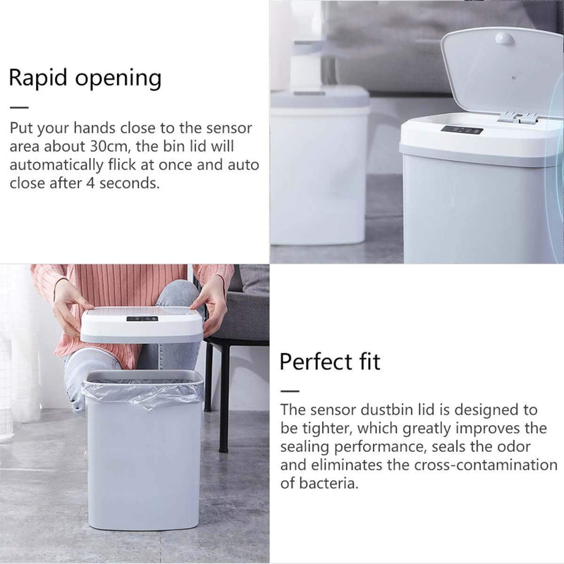 rapid opening touchless trash can