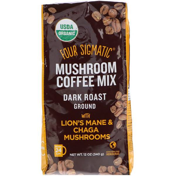 Four Sigmatic Ground Coffee with Lions Mane & Chaga 340 g