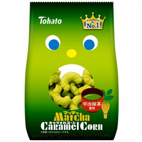 Buy Tohato Caramel Corn Matcha Online | Made in Japan | Buy Japanese Snacks Online | Shipping Australia Wide | Kawaii Bites
