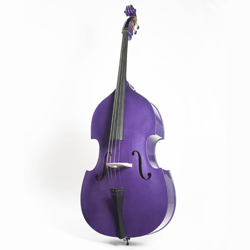 Double Bass Flat Back Laminated 3/4 Purple Rock A Billy - Biggars Music