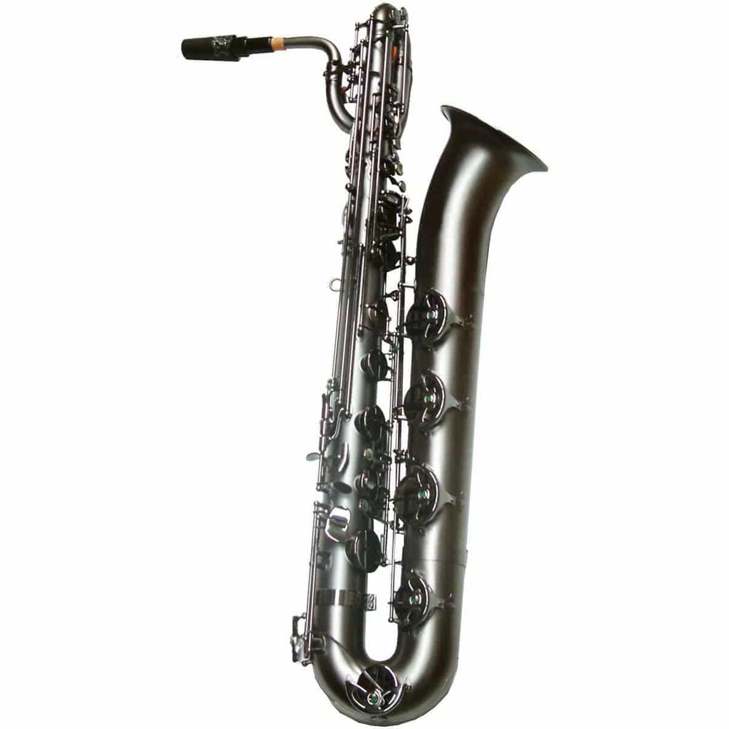 Trevor James SR Baritone Sax Outfit - Black Frosted. Black Keys