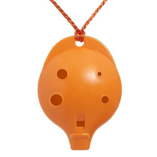 6CO Ocarina Alto Chromatic 6 Hole Orange Colour 6CO