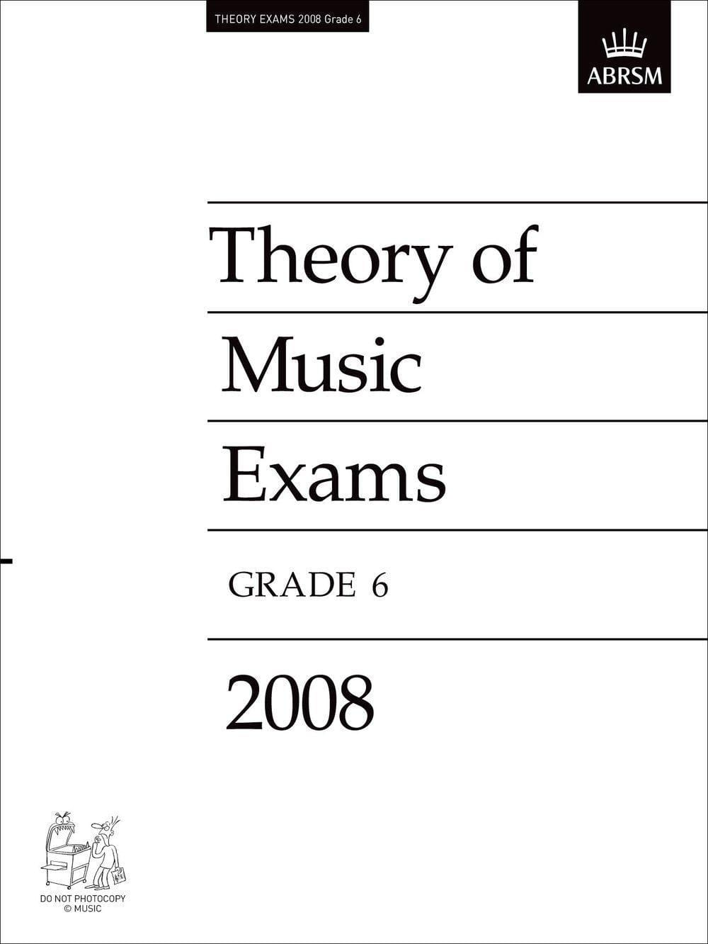 ABRSM Theory Of Music Examinations Test Paper - Biggars Music