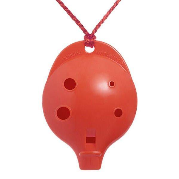 6CR Ocarina Alto Chromatic 6 Hole Red Colour A6CR