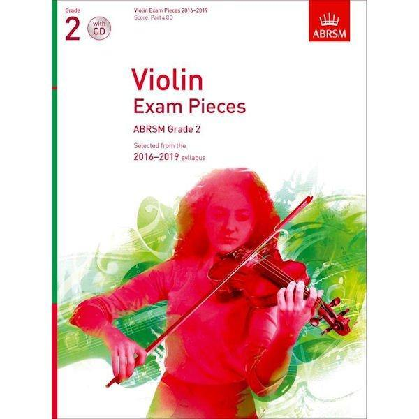 ABRSM Violin Exam Pieces Grade 2 Score, Part & CD 2016-2019