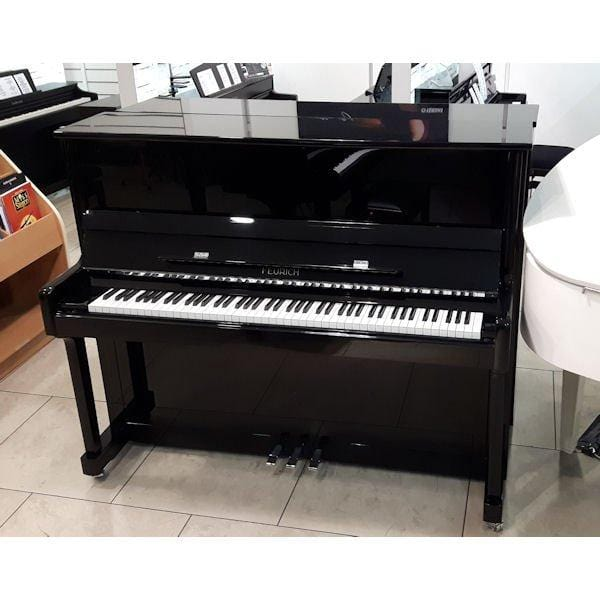Feurich 122 Polished Ebony Second Hand Piano