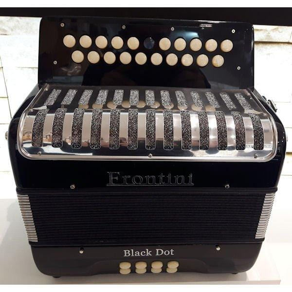 Frontini Black Dot B/C Tuning Button Accordion Melodeon