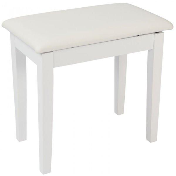 KPB01WH Kinsman Piano Stool With Storage White Satin Finish