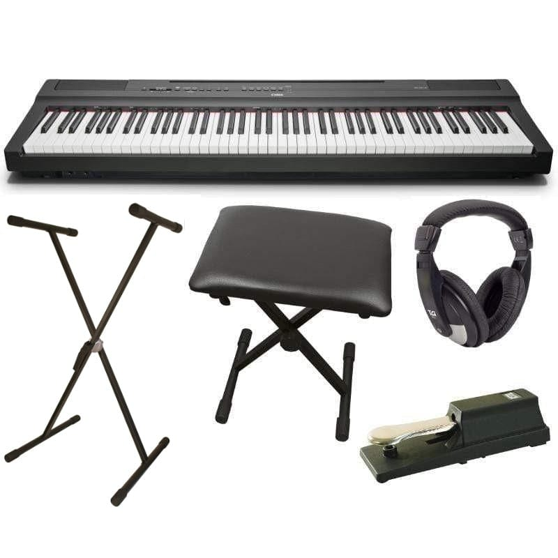 Yamaha P125 Portable Digital Piano Players Package, Black - Biggars Music