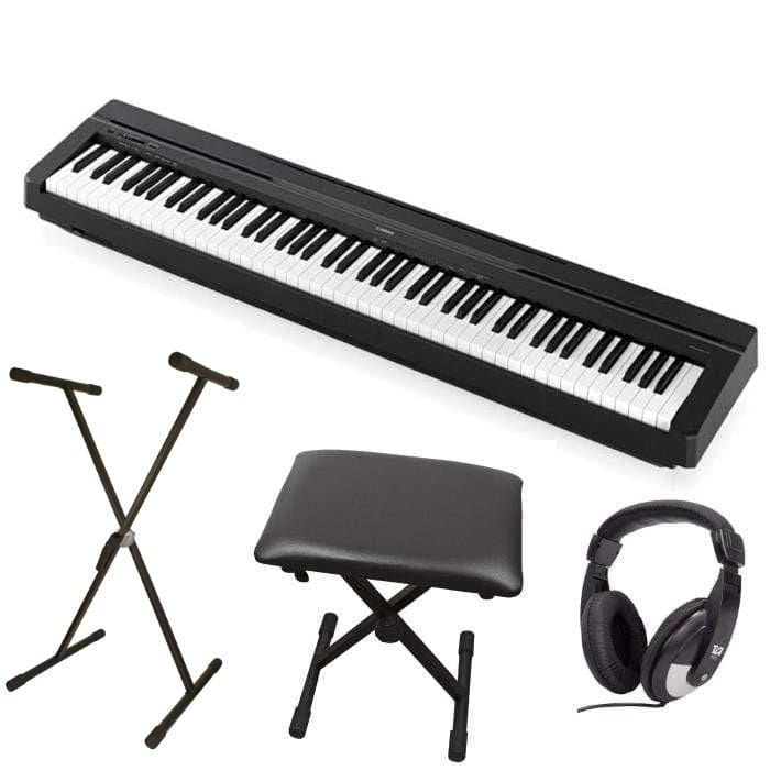 P45 Yamaha P Series Black P45B Portable Digital Piano Package