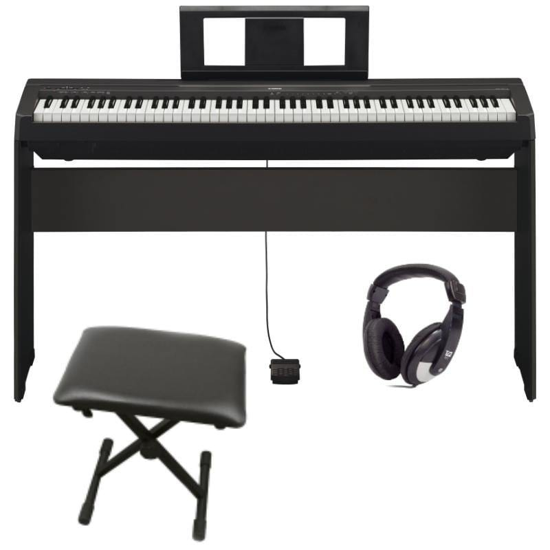 P45 Yamaha P Series Black P45B Premium Piano Package - Biggars Music