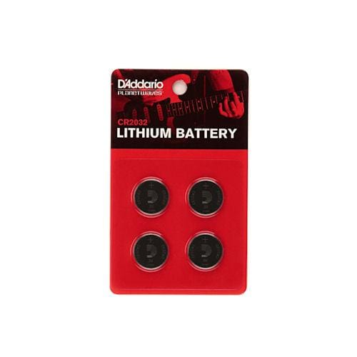 PW-CR2032-04  D'Addario CR2032 Planet Waves Lithium Battery 4-pack
