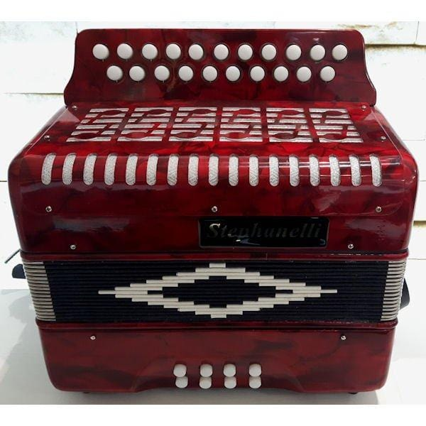 Stephanelli 2 Row Melodeon Tuned B/C Includes Case