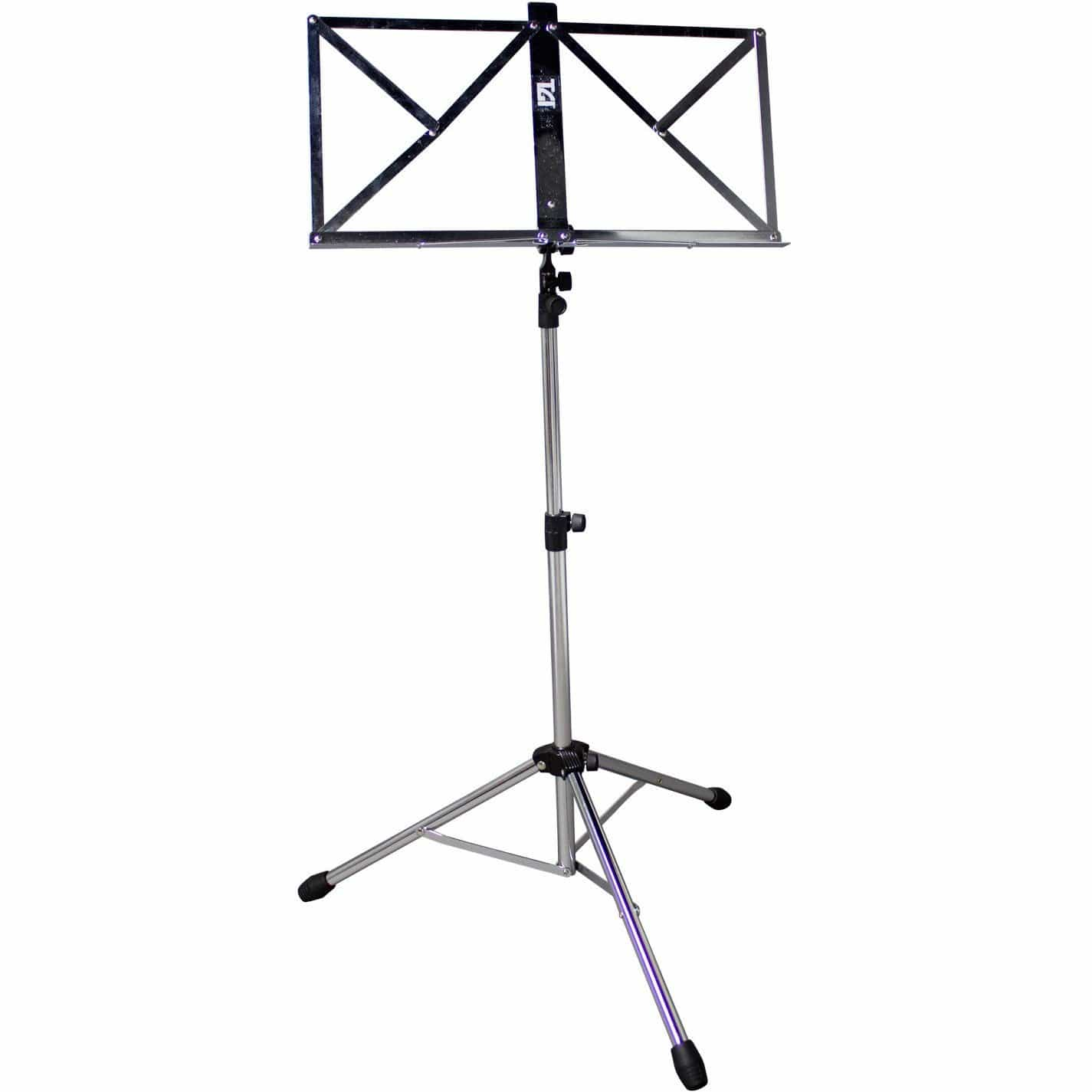 TGI Music Stand in Bag. Chrome