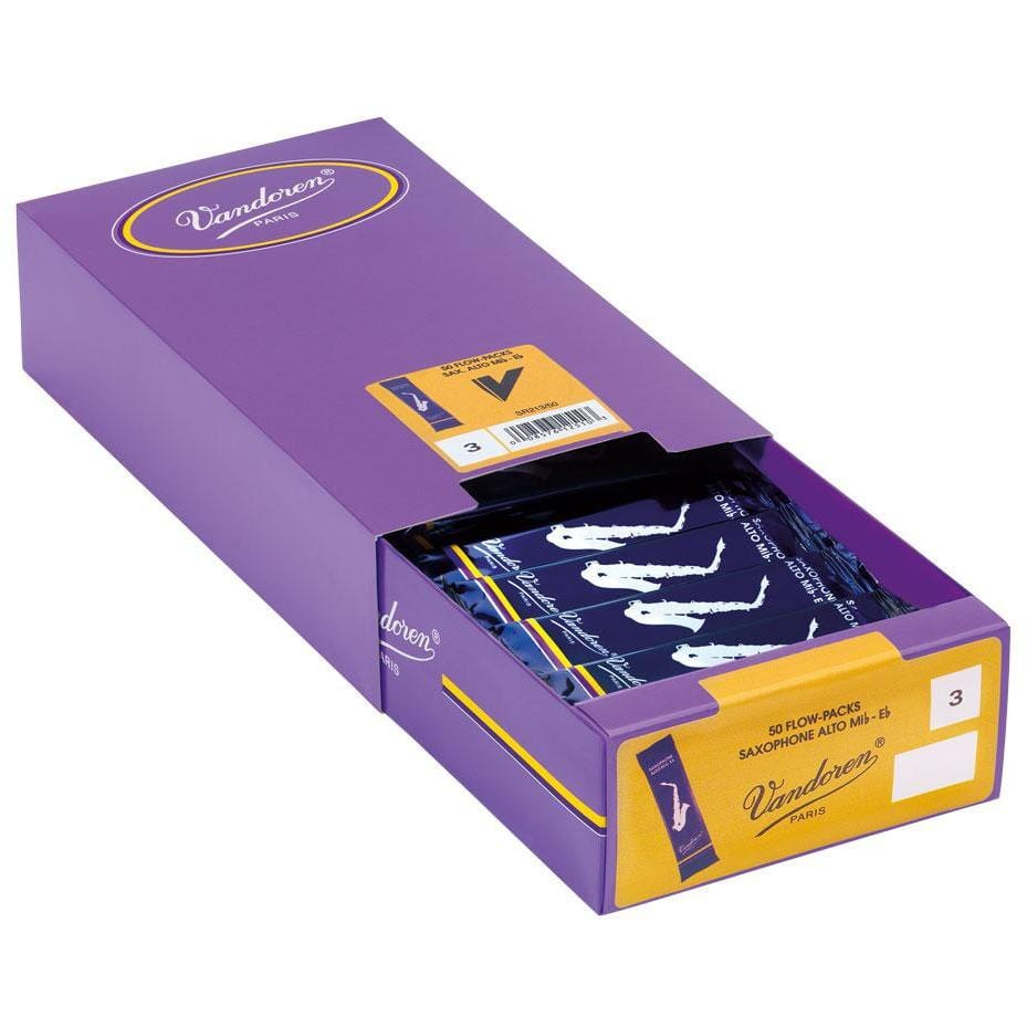 Vandoren Reeds Alto Sax 3 Traditional (50 BOX)