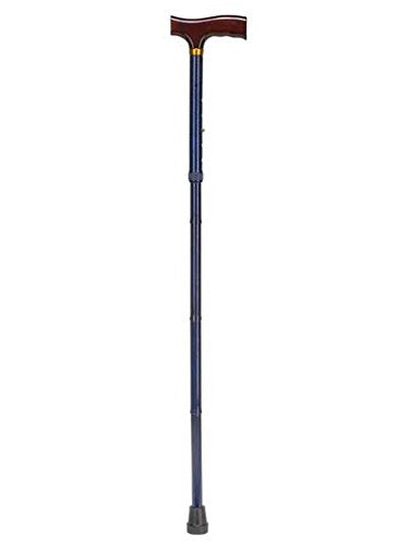 Duro-Med Designer Folding Walking Cane, Adjustable Walking Cane, Blue Ice