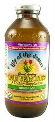 Aloe Vera Whole Leaf Preservative Free Lily Of The Desert 16 oz Liquid