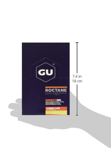 Gu Energy Roctane Ultra Endurance Energy Gel, 24 Count, Cherry Lime
