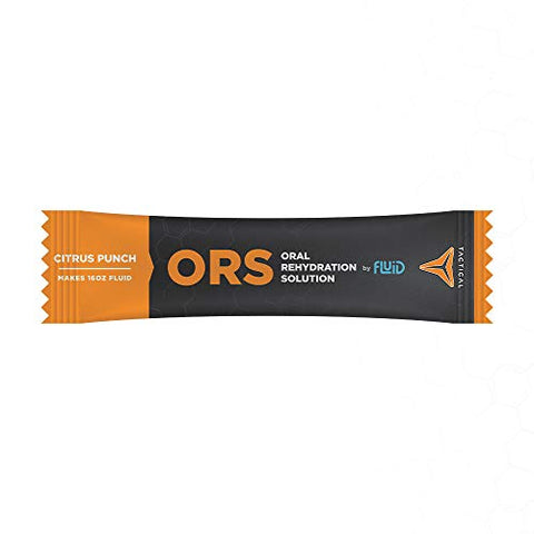 Fluid Tactical - ORS (Oral Rehydration Solution), Recover Faster, Extreme Dehydration Electrolytes, 12pack (Citrus Punch)