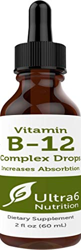 Vitamin B12 Drops. 90 Day Supply. Liquid B12 For Best Absorption   Methylcobalamin B12 Great For Ene