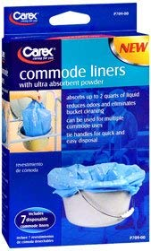Carex Commode Liners - 7 each, Pack of 5