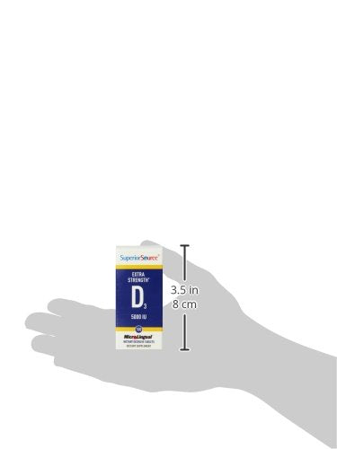 Superior Source Extra Strength Vitamin D3 5,000 IU Tablet, 100 Count (Packaging May Vary)