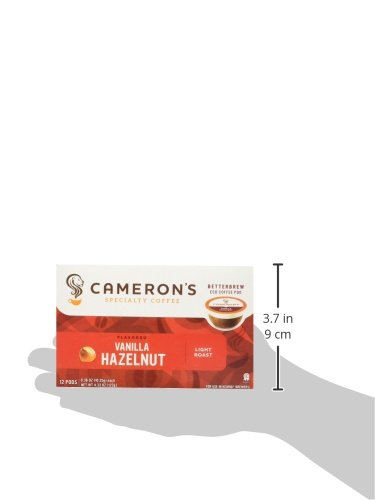 Cameron's Coffee Single Serve Pods, Flavored, Vanilla Hazelnut, 12 Count (Pack of 1)