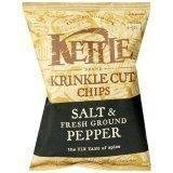 KETTLE BRAND POTATO CHIPS SALT & FRESH GROUND PEPPER KRINKLE CUT 8 OZ