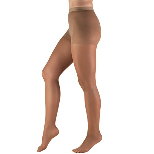 Truform Compression 8-15 mmHg Sheer Pantyhose Taupe, Queen, 2 Count