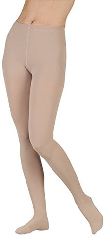 Juzo 2002ATFFOC53 I Soft 2002AT 30-40 mmHg Full Foot Pantyhose Standard Compression Stockings With Open Crotch - Chocolate44; I - Extra Small
