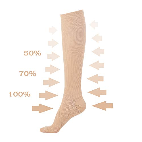 Novayard Compression Socks For Women& Men Graduated 15 20 Mm Hg Media De Compresion Mujer(6 Pairs)