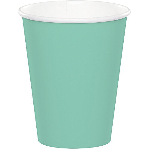 Creative Converting Fresh Mint Paper Cups Party Supplies, Multicolor, 9 oz