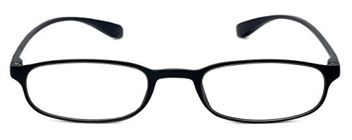 Calabria Reading Glasses - 718 Flexie in Ebony (+6.00)