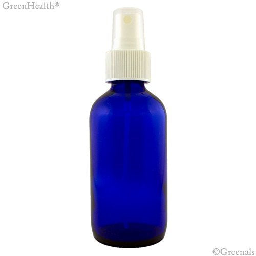 Premium Life Blue Glass Bottle with Spray 4 oz Unit