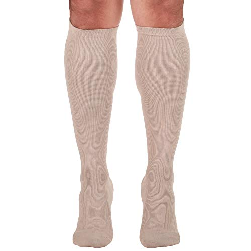 Made In The Usa â?? Microfiber Compression Travel Socks 15 20 Mm Hg (Tan, Medium)