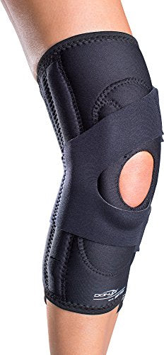 DonJoy Lateral J Patella Knee Support Brace with Hinge: Drytex, Right Leg, XX-Large