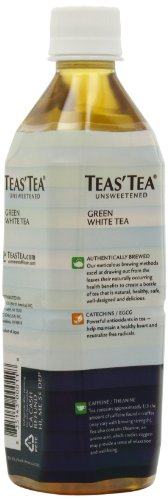 Teas' Tea Organic Iced Tea, Green White Tea, 17 Ounce (Pack Of 12)