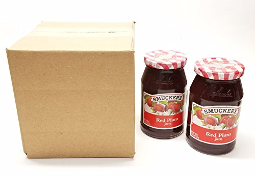 Smucker's, Jams, 18oz Glass Jar (Pack of 2) (Choose Flavors Below) (Red Plum)