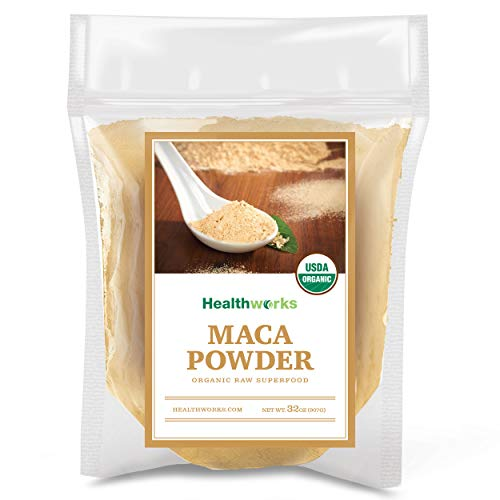 Healthworks Maca Powder Raw (32 Ounces / 2 Pounds) | Certified Organic Flour Use | Keto, Vegan & Non-GMO | Premium Peruvian Origin | Breakfast, Smoothies, Baking & Coffee |...